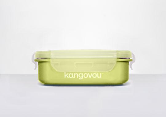 美國kangovou不鏽鋼安全寶寶餐盒--青蘋綠