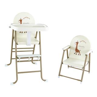 【美國 L.A. Baby】高低可調兩用嬰兒餐椅(6個月-5歲皆適用-夢幻卡其色)