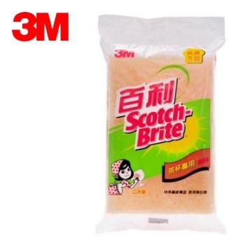 3M 百利菜瓜布 #41YS 茶杯 / 精緻餐具專用菜瓜布 ( 小黃菜瓜布x2片 )