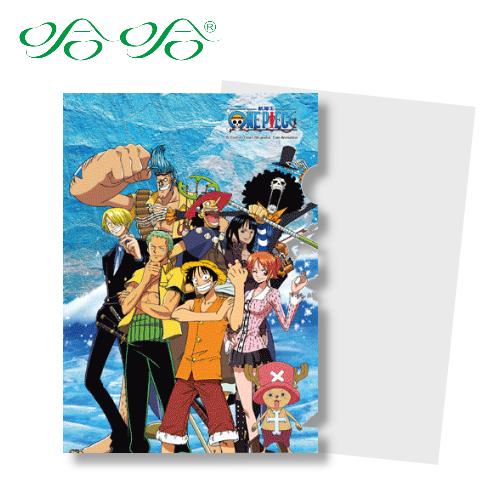 哈哈書套 LF-004 日本動漫 航海王 正版授權 海賊王 L型文件夾 (L夾- 千陽號 )