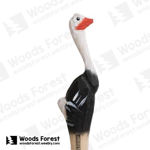 Woods Forest 木雕森林 - 手工木雕筆【鴕鳥】