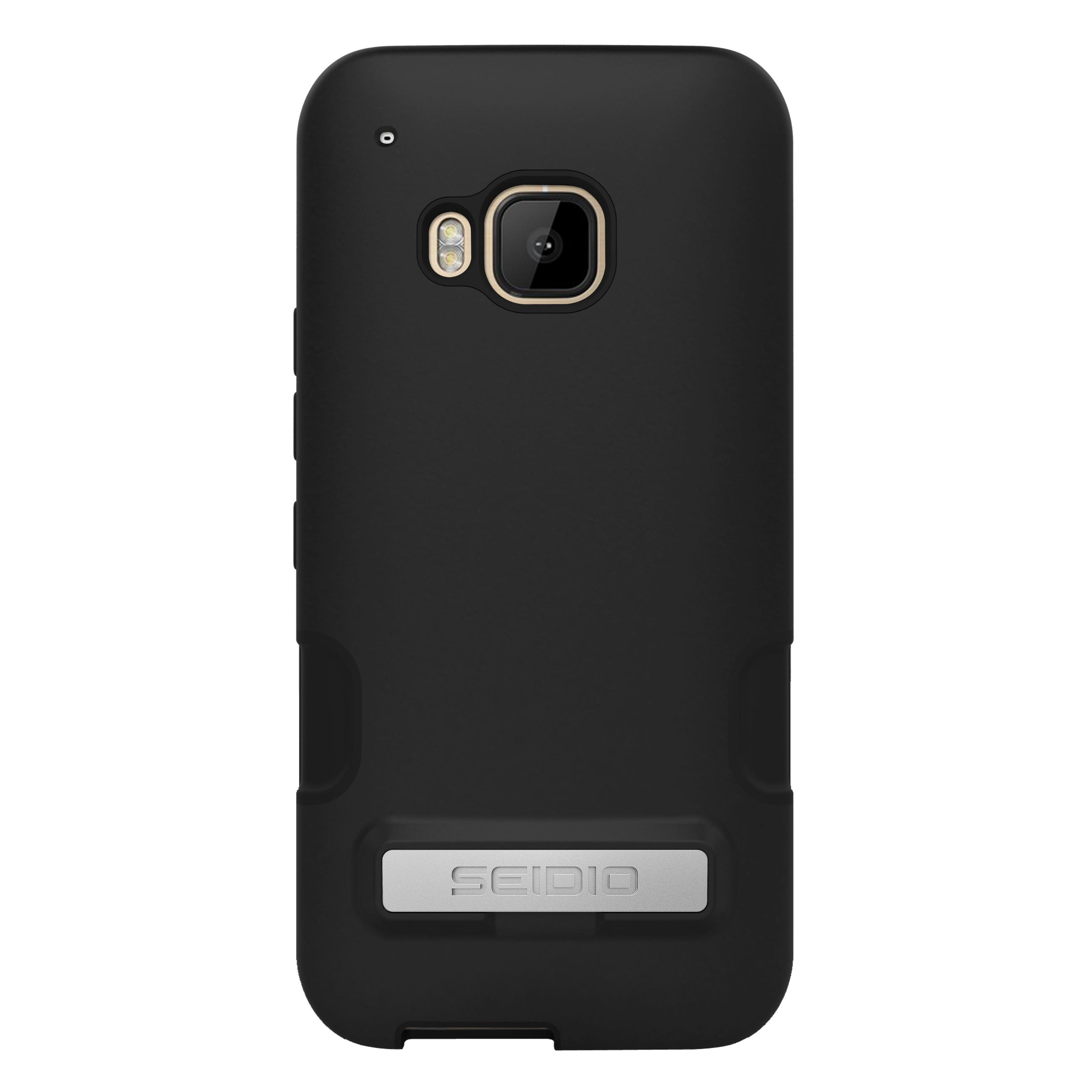 SEIDIO DILEX? PRO 金屬支架保護殼 for HTC One M9 - 鐵漢黑