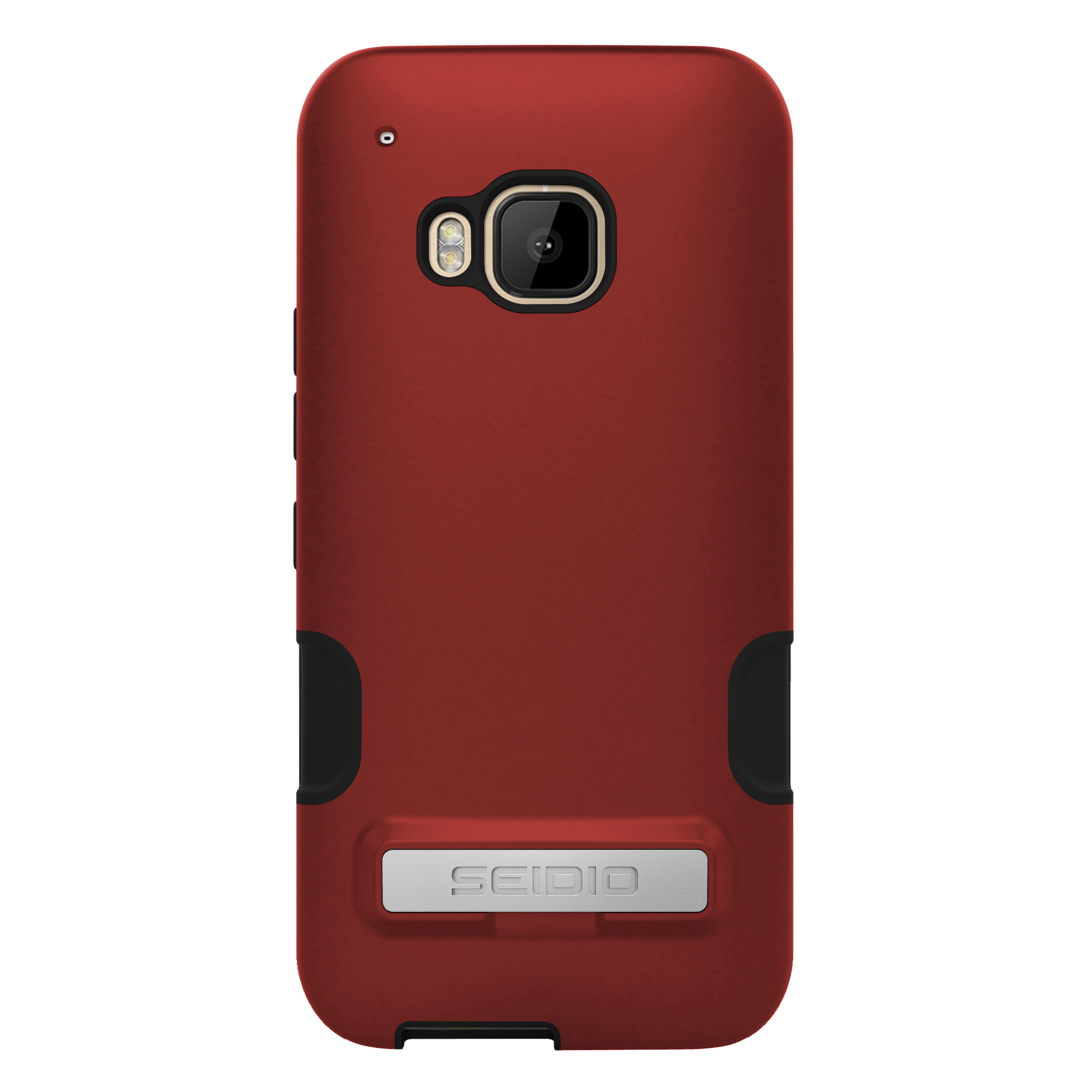 SEIDIO DILEX? PRO 金屬支架保護殼 for HTC One M9 - 熱情紅