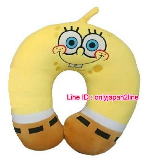 【真愛日本】16112300021電繡U型枕-海綿寶寶大臉  海綿寶寶 派大星  居家 車用 靠枕 正品