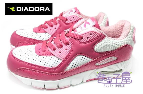 【巷子屋】義大利國寶鞋-DIADORA迪亞多納 女款四大機能亮色氣墊運動慢跑鞋 [6901] 白粉 超值價$590