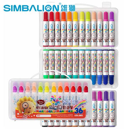 雄獅 BLW-36/B 奶油獅36色 可水洗彩色筆 /盒