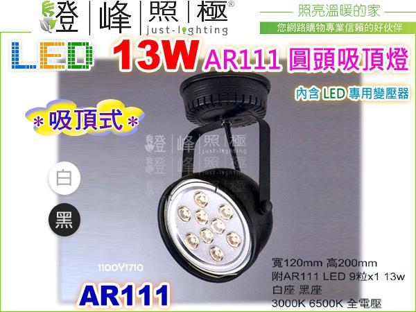 【LED吸頂投射燈】LED-111 13W.圓頭型吸頂燈 黑白2款 附變壓器整組 【燈峰照極】#1710