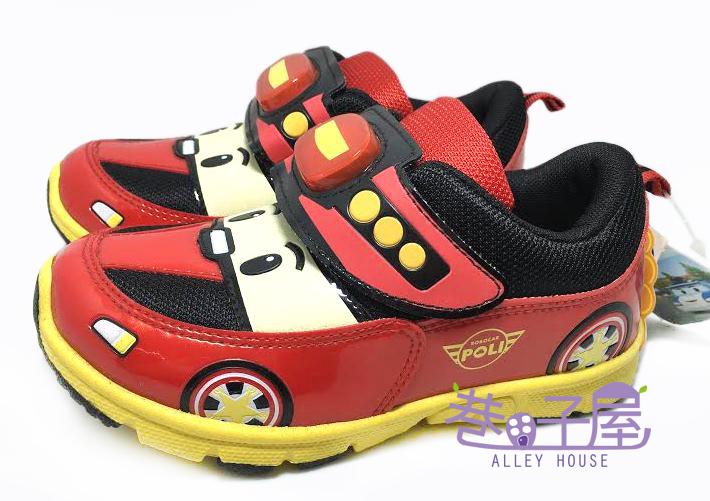 【巷子屋】救援小隊 POLI 波力 男童電燈運動休閒鞋 [41922] 黑紅 MIT台灣製造 超值價$198