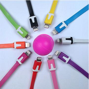 Iphone5 短面條彩色傳輸線(17cm)