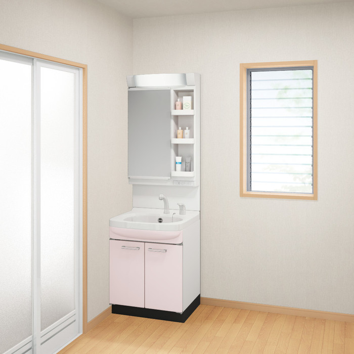 【現貨+預購】日本衛浴用水材-Takara Standard 琺瑯洗面化妝台【WSS60SP】櫻花粉