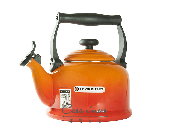 Le Creuset 傳統水壺 笛音壺 2.1L 火焰橘