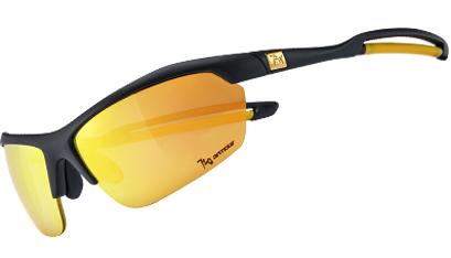 720armour Mantis 運動型太陽眼鏡 B333-5 消光黑框/香檳金多層鍍膜防爆PC片