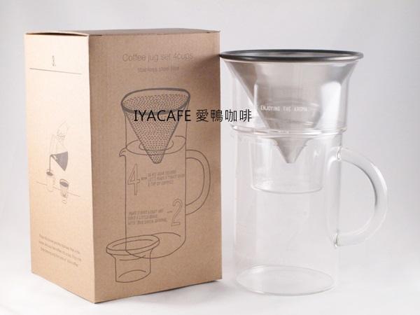 《愛鴨咖啡》KINTO 耐熱玻璃濾壺組 SCS-04-CJ-ST 600ml 27652
