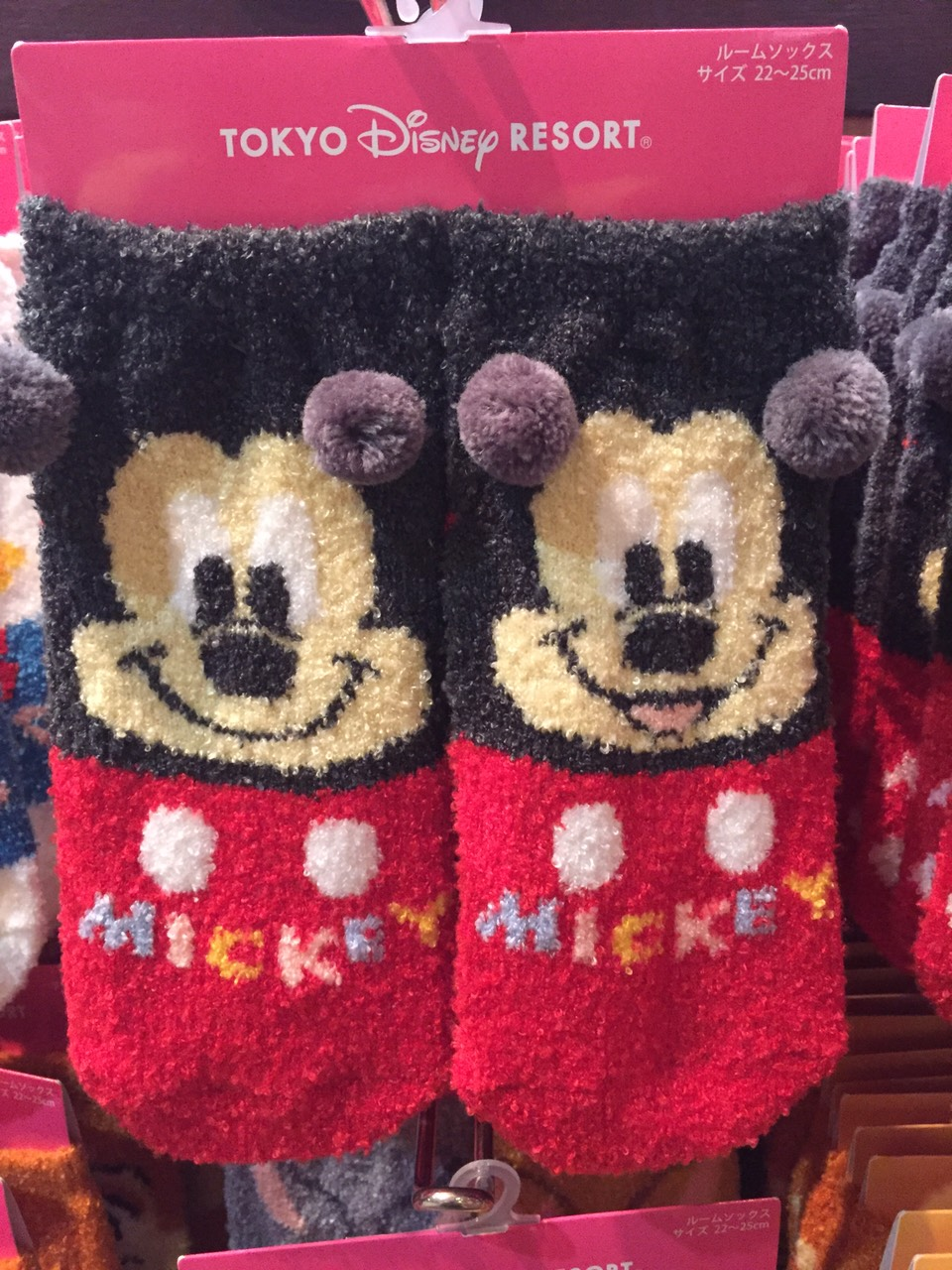 【真愛日本】16030100004樂園限定毛襪-米奇  迪士尼 米老鼠米奇 米妮  短襪 毛襪 襪子 居家