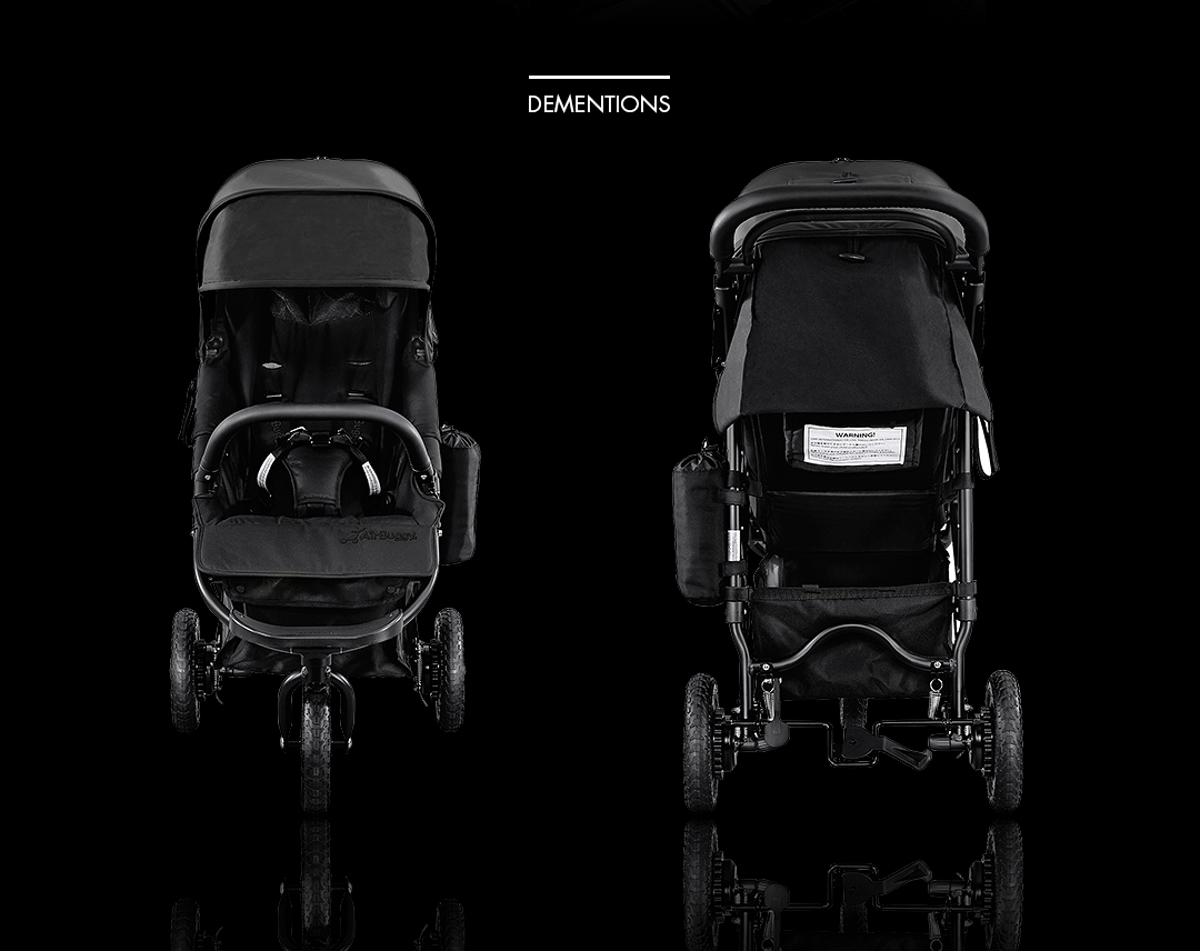 AirBuggy COCO PREMIER PIANO BLACK 鋼琴黑 正反面照
