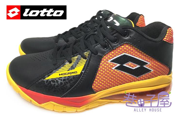 【巷子屋】義大利第一品牌-LOTTO 頂尖對決-男款刀鋒戶外加長氣墊籃球鞋 [3252] 黑紅 超值價$690