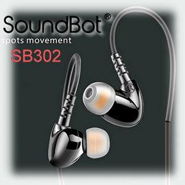 志達電子 SB302 SoundBot 運動用耳道式耳機 線控 高C/P值 ES18S E10S VSD1可參考 Android Apple