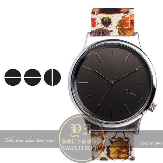 KOMONO比利時品牌WINSTON PRINT夏日昆蟲腕錶-ENTOMOLOGY/37.5mm KOM-1831公司貨/禮物