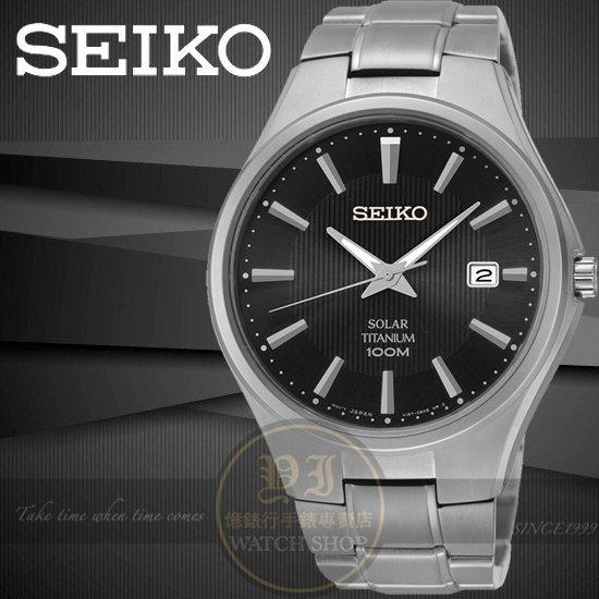 SEIKO日本精工SOLAR簡約太陽能鈦合金腕錶-黑/41mm V157-0BB0D/SNE377P1公司貨