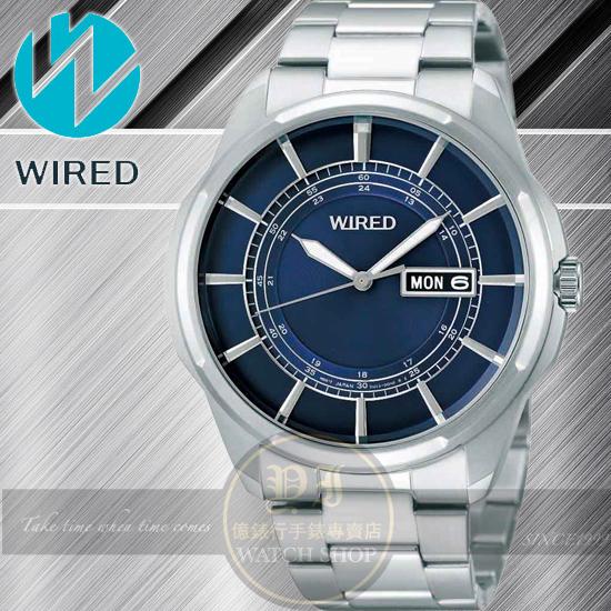 WIRED日本原創New Standard 原創玩家型男腕錶-藍/42mm 7N43-X004A /AF7A15X1公司貨/柯有倫/原創/SEIKO