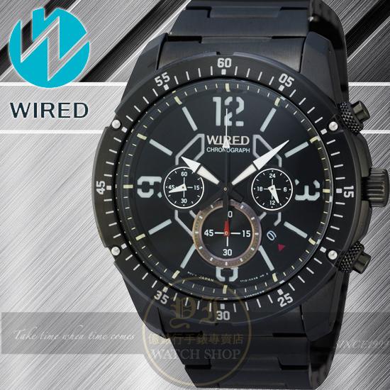 WIRED RIGID 神話傳奇計時腕錶-IP黑/46mm 7T12-X001SD/AW8003X1公司貨/柯有倫/廣告/聖誕