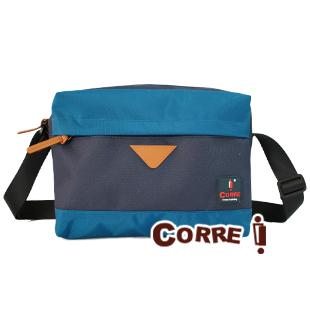CORRE【ANKO1001】自我風格撞色斜背包 個性藍/百搭黑/搶眼紅 共三色