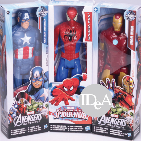 Marvel 復仇者聯盟 美國隊長 鋼鐵人 蜘蛛人 玩具公仔 可轉動