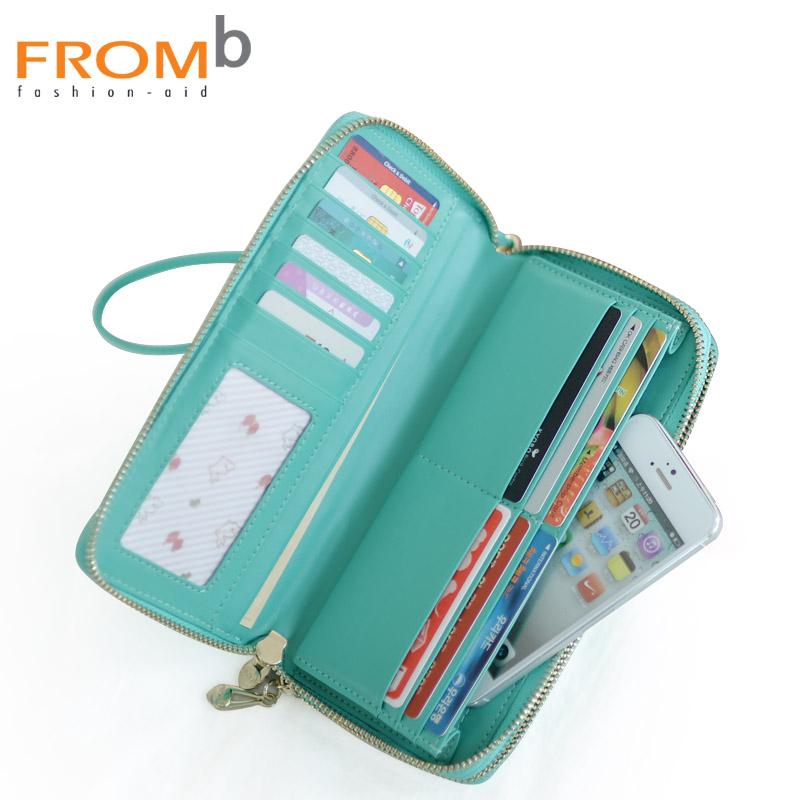 【橘子包舖G0788】韓國正貨.FROMb.女長款.雙拉鍊錢包.大容量真皮長夾.手機包