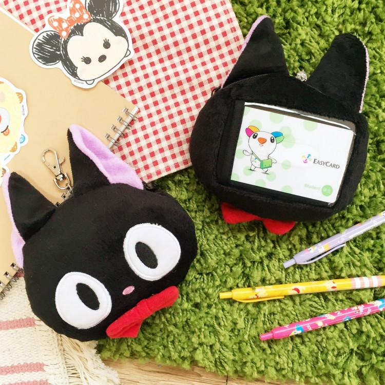 PGS7 日本卡通系列商品 - 魔女宅急便 黑貓 吉吉 造型 伸縮 票卡夾 零錢包 宮崎駿 吉卜力
