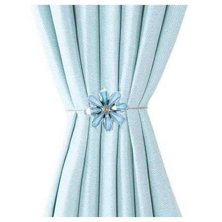 磁鐵式窗簾束帶FLOWER2 BL