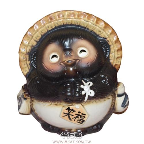 日本富貴 智慧錢財商機 誠信的象徵 笑福狸貓 開店鎮宅必備