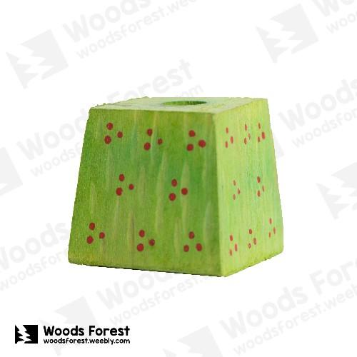Woods Forest 木雕森林 - 禮盒款手工木雕筆單孔專用筆座【綠草地】