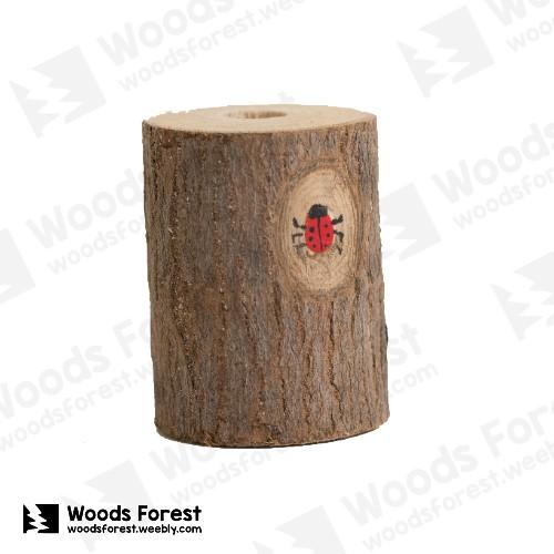 Woods Forest 木雕森林 - 禮盒款手工木雕筆單孔專用筆座【圓木材】