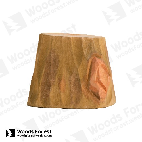 Woods Forest 木雕森林 - 禮盒款手工木雕筆單孔專用筆座【樹樁】