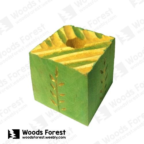 Woods Forest 木雕森林 - 禮盒款手工木雕筆單孔專用筆座【稻田】