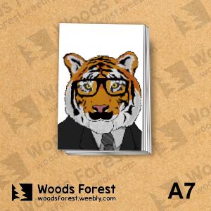 Woods Forest 木雕森林 - A7你手記本(筆記本)【黑框虎】