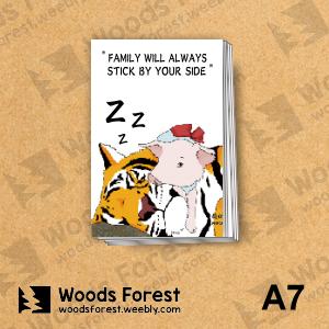 Woods Forest 木雕森林 - A7你手記本(筆記本)【虎與豬】