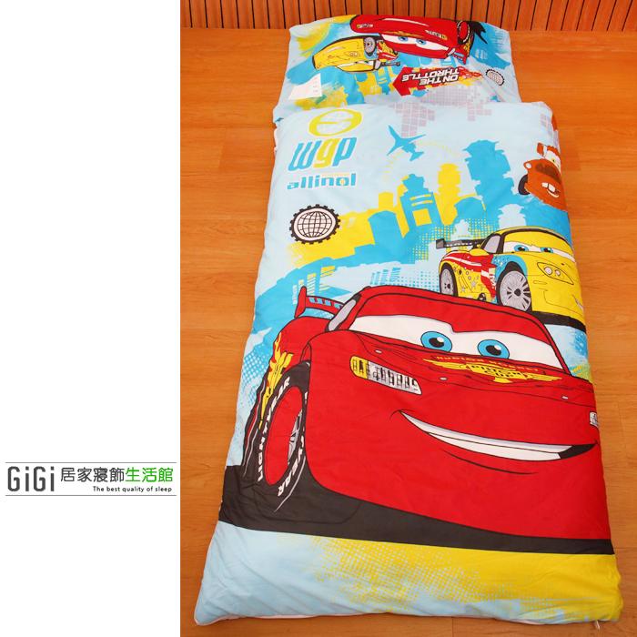 《GiGi居家寢飾生活館》兒童卡通睡袋 冬夏兩用鋪棉 台灣製造 Cars 閃電麥坤