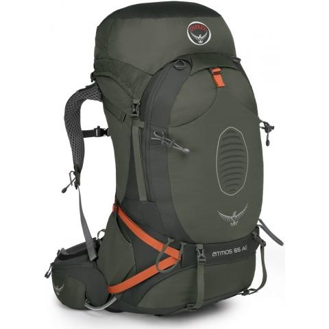 【鄉野情戶外專業】 Osprey |美國| ATMOS AG 65 網架輕量登山背包 休閒 健行 登山 旅行背包-墨灰M Atmos65AG-GG