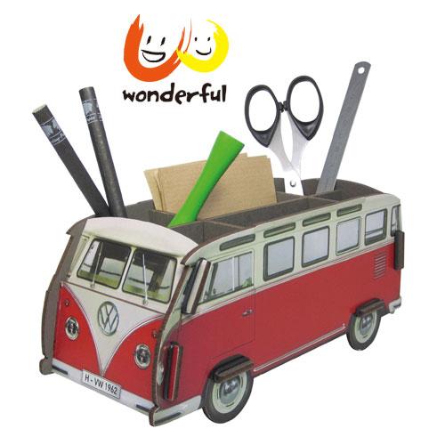 Werkhaus 福斯VW T1巴士筆座 (紅)