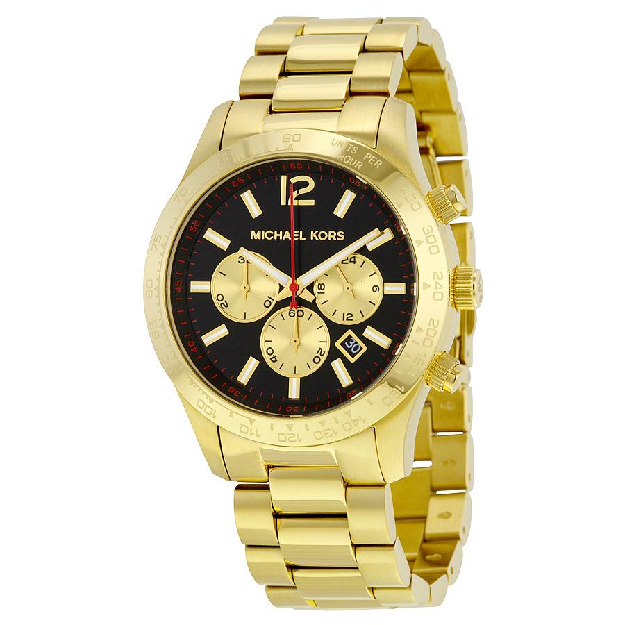 【限時8折 全店滿5000再9折】Outlet正品代購 Michael Kors MK 金屬金色 男女款 三眼 計時 手錶 腕錶 MK8246
