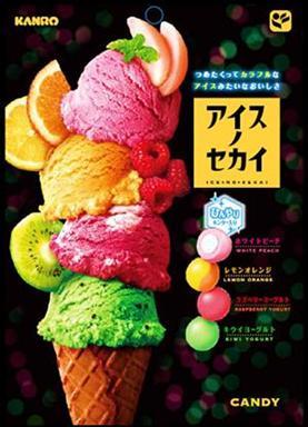 [即期良品]KANRO甘樂綜合水果冰淇淩糖 (檸檬柳橙/白桃/奇異果優格/樹莓優格) 65g *賞味期限:2017/01/31*