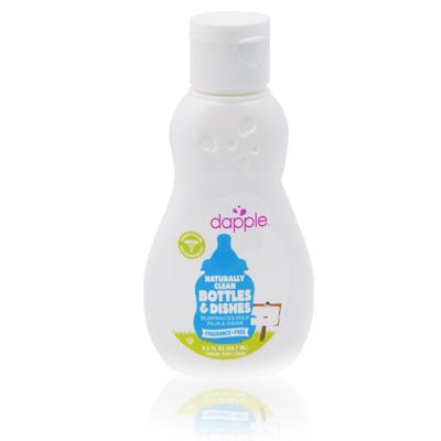 美國dapple 天然無香精奶瓶及餐具清潔液90ml(外出攜帶用)
