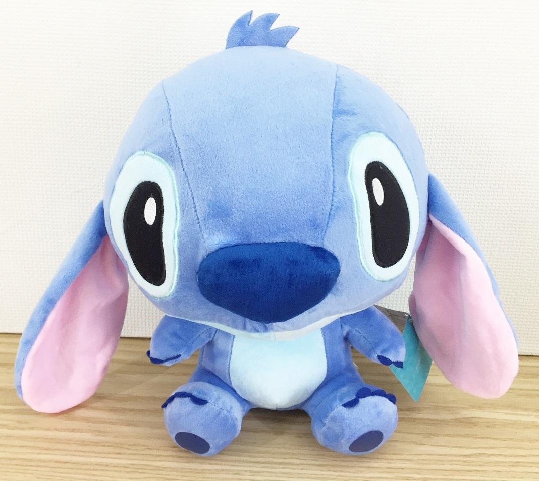 【真愛日本】16011600005 12吋大眼坐娃-藍 史迪奇 星際寶貝 娃娃 抱枕 靠枕 公仔 絨毛娃娃