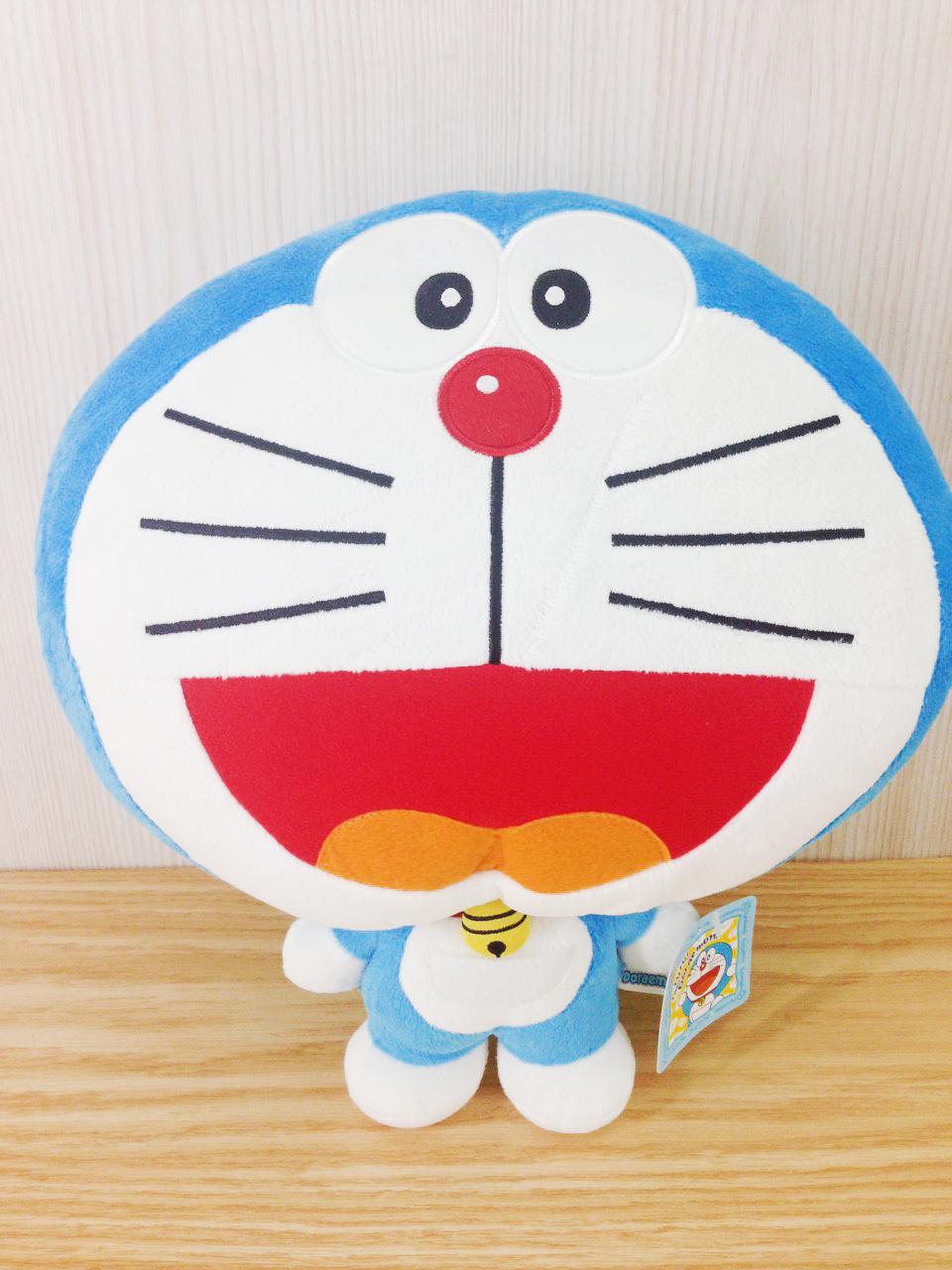 【真愛日本】15122200003大頭小身暖手枕-開嘴 Doraemon 哆啦A夢 小叮噹  暖手枕 保暖 靠枕