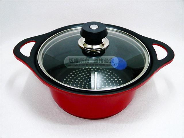 快樂屋? 日本KINTARO 金太郎 陶瓷面鑽石鍋 26cm (湯鍋/油炸鍋/滷鍋/燉鍋/火鍋)
