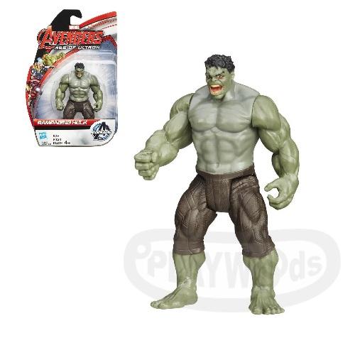 【Playwoods】[復仇者聯盟2:奧創紀元] 3.75吋明星人物:狂暴浩克 Hulk (可動關節人偶/MARVEL漫威世界/Avengers:Age of Ultron/綠巨人/布魯斯班納/孩之寶..