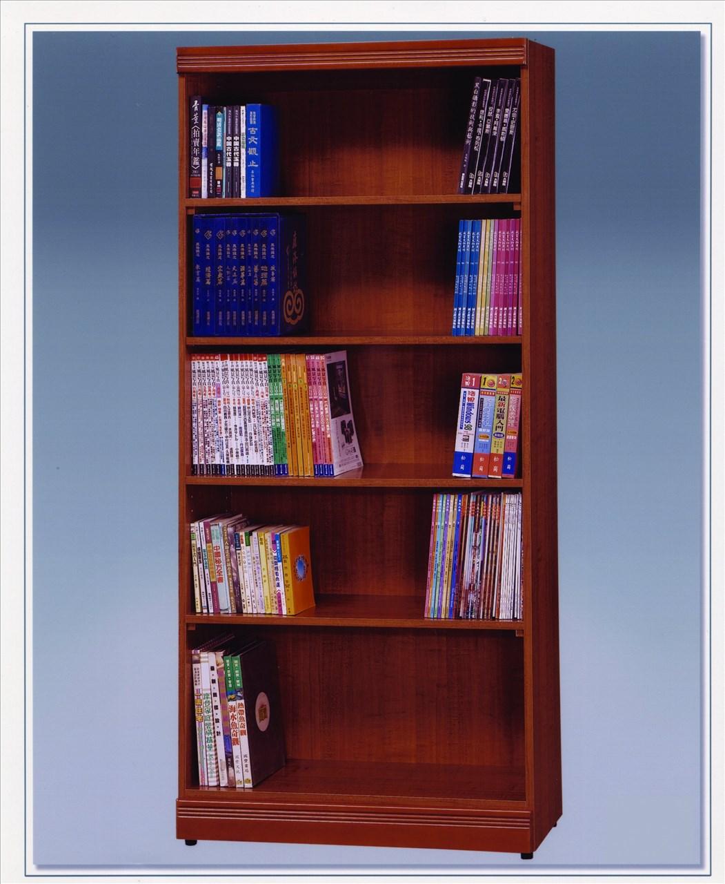 【石川家居】OU-725-3 柚木色3*6尺開放書架 (不含其他商品) 需搭配車趟