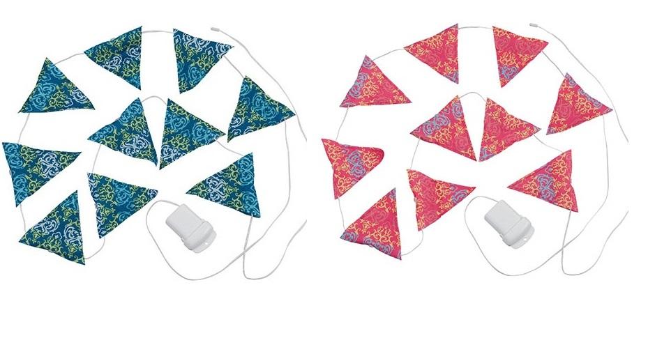 【露營趣】中和 Coleman 藍色 CM-22289 粉紅 LED串燈 三角旗 氣氛燈 聖誕燈飾 裝飾燈 CM-22287
