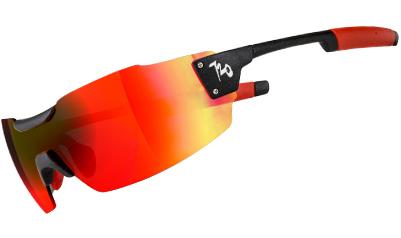 720armour Clipper 單車三鐵設計款 廣角一體運動太陽眼鏡 T996-1 金屬黑框茶紅色多層鍍膜防爆PC片